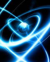 地球の周りの光の輪