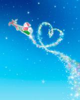 クリスマス サンタクロースとハートの星 02362000284| 写真素材・ストックフォト・画像・イラスト素材|アマナイメージズ