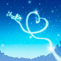 クリスマス サンタクロースとハートの星 02362000285| 写真素材・ストックフォト・画像・イラスト素材|アマナイメージズ
