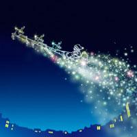 クリスマス サンタクロースと流れる星 02362000286| 写真素材・ストックフォト・画像・イラスト素材|アマナイメージズ