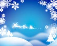 クリスマス サンタクロースと雪の結晶