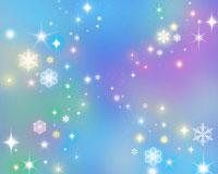 星と雪の結晶