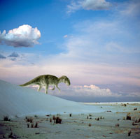 荒野を歩くアロサウルス