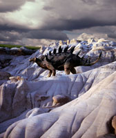 岩場を歩くケントロサウルス