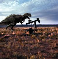 油田に立つケラトザウルス