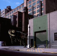 街を歩くヤンチュアノサウルス