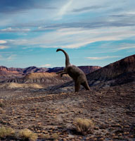 荒涼とした大地に佇むサルタサウルス