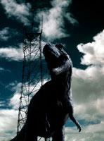 ティラノサウルスレックスと鉄塔