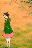 春霞と女性