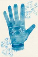 青い手袋 02369000042  写真素材・ストックフォト・画像・イラスト素材 アマナイメージズ