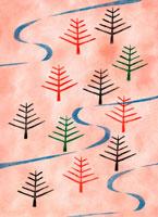 カラフルな木の森