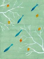青い魚 02369000044  写真素材・ストックフォト・画像・イラスト素材 アマナイメージズ