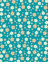 アネモネの花柄イラストパターン