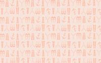 横浜のシンボルを並べたイラストパターン