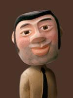 人物クラフト 角刈りの男性 02374000005| 写真素材・ストックフォト・画像・イラスト素材|アマナイメージズ