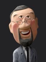 人物クラフト あごひげと丸めがねの男性 02374000015| 写真素材・ストックフォト・画像・イラスト素材|アマナイメージズ