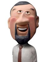 人物クラフト あごひげの男性 02374000016A| 写真素材・ストックフォト・画像・イラスト素材|アマナイメージズ