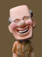 人物クラフト 丸めがねの男性 02374000025| 写真素材・ストックフォト・画像・イラスト素材|アマナイメージズ