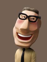 人物クラフト 黒縁めがねの男性 02374000049| 写真素材・ストックフォト・画像・イラスト素材|アマナイメージズ