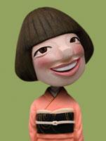 和服姿の女性 02374000127| 写真素材・ストックフォト・画像・イラスト素材|アマナイメージズ