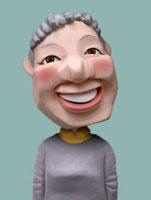 普段着のシニア女性 02374000133| 写真素材・ストックフォト・画像・イラスト素材|アマナイメージズ