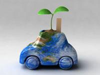 車型の鉢から出る双葉 02374000151A| 写真素材・ストックフォト・画像・イラスト素材|アマナイメージズ