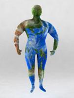 人間型の地球イメージ