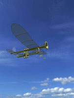 トランペットの模型飛行機