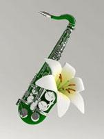 ゆりの花のサックス 02374000164| 写真素材・ストックフォト・画像・イラスト素材|アマナイメージズ