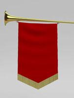 ファンファーレ・トランペットのメッセージボード 02374000165| 写真素材・ストックフォト・画像・イラスト素材|アマナイメージズ