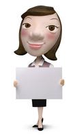 メッセージボードを持った女性事務員クラフト 02374000176| 写真素材・ストックフォト・画像・イラスト素材|アマナイメージズ