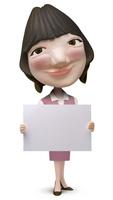 メッセージボードを持った女性事務員クラフト 02374000177| 写真素材・ストックフォト・画像・イラスト素材|アマナイメージズ