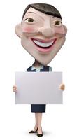 メッセージボードを持った女性事務員クラフト 02374000179| 写真素材・ストックフォト・画像・イラスト素材|アマナイメージズ