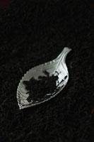 キャディスプーンと紅茶の葉