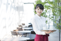 カフェで働く女性店員 02381000830| 写真素材・ストックフォト・画像・イラスト素材|アマナイメージズ