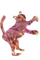 イラストコラージュ 紫のトラ