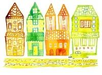街のイラスト