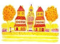 黄色い町並み