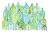 エコの家が並ぶ街