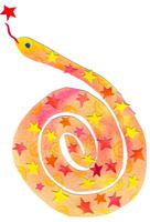 星模様のヘビ