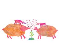 羊の家族 02390000081| 写真素材・ストックフォト・画像・イラスト素材|アマナイメージズ