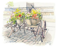 花車のある広場 02398000006| 写真素材・ストックフォト・画像・イラスト素材|アマナイメージズ