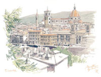 ミケランジェロ広場から見た街