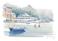 ポルトフィーノの港 02398000049| 写真素材・ストックフォト・画像・イラスト素材|アマナイメージズ