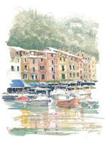 ポルトフィーノの港 02398000050| 写真素材・ストックフォト・画像・イラスト素材|アマナイメージズ