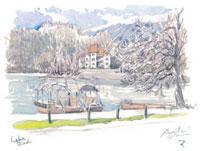 ユリアンアルプスとブレッド湖