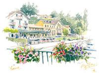 湖畔の町イヴォアール