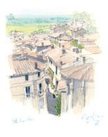 サンテミリオン俯瞰 02398000175| 写真素材・ストックフォト・画像・イラスト素材|アマナイメージズ