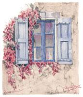 プロヴァンスの窓辺 02398000189| 写真素材・ストックフォト・画像・イラスト素材|アマナイメージズ