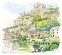崖沿いの村